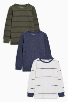 Long Sleeve Tops Three Pack (3-16yrs)