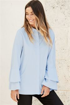 Ruffle Sleeve Shirt