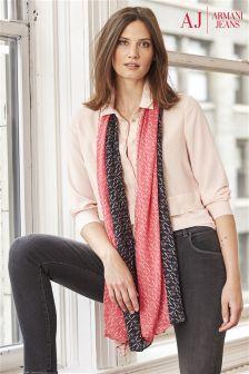 Armani Jeans Pink Print Scarf