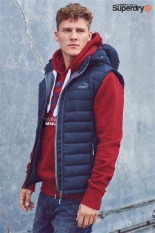 Superdry Navy Padded Gilet