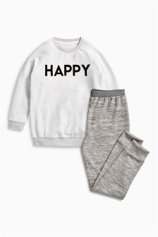 Happy Slogan Pyjamas (3-16yrs)