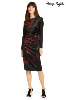 Phase Eight Black Fenella Print Dress