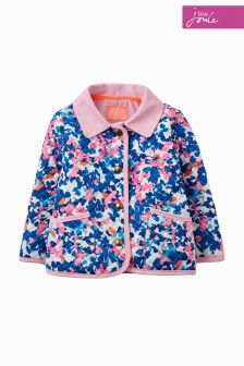 Joules Blue Printed Mabel Quilted Jacket