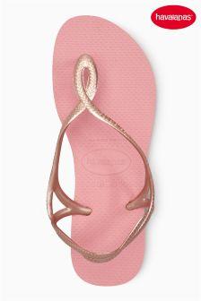 Havaianas® Light Rose Luna Strap Flip Flop
