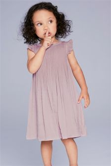 Pleated Satin Occasion Dress (3mths-6yrs)