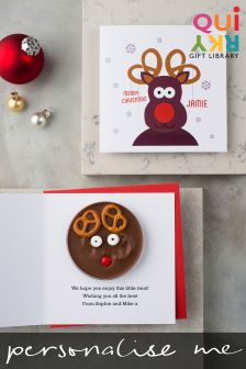 Personalised Rudolph Card And Chocolate By Quirky Gift Library