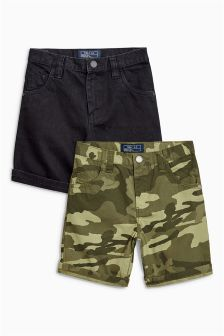 Camo Five Pocket Shorts Two Pack (3-16yrs)