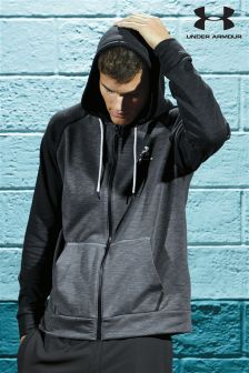 Under Armour Black Tri Blend Zip Through Hoody