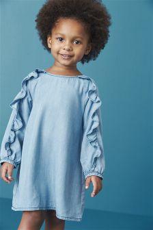 Tencel® Frill Long Sleeve Dress (3mths-6yrs)