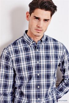 Tommy Hilfiger Blue Tonal Check Shirt