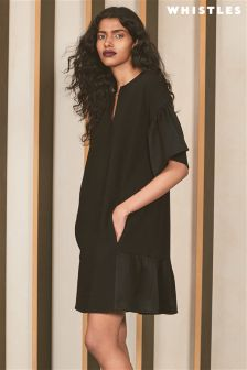Whistles Black Hanni Shift Dress