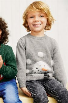 Christmas 3D Nose Snowman Jumper (3mths-6yrs)