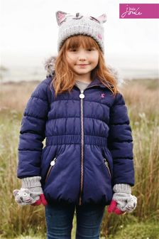 Little Joule Merrydale French Navy Padded Longline Coat
