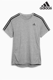 adidas Essential Black 3 Stripe T-Shirt