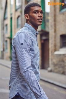Superdry Blue Fine Stripe Shirt