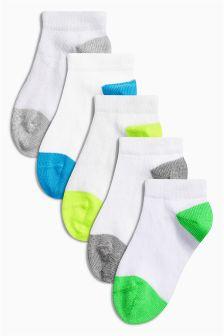 White Trainer Socks Five Pack (Younger Boys)
