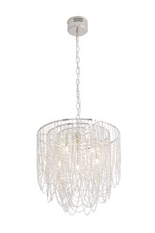 Grace 5 Light Bead And Chain Chandelier