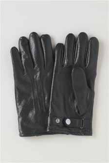 Leather Textured Gloves