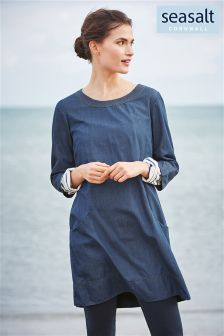 Seasalt Denim Percella Point Dress
