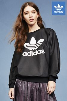 adidas Originals Black Trefoil Sweat Top