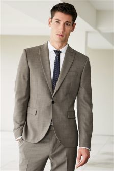Textured Skinny Fit Suit
