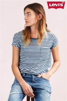 Levi's® Willow Indigo/Marshmallow Striped Perfect Tee