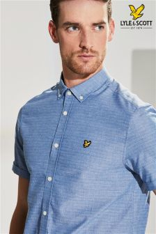 Lyle & Scott Stitch Detail Short Sleeve Shirt