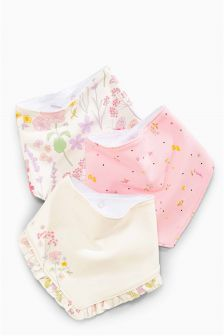 Floral Dribble Bibs Three Pack
