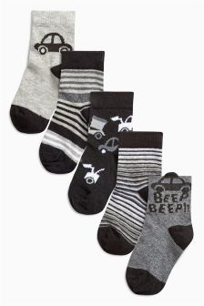 Car Socks Five Pack (Younger Boys)