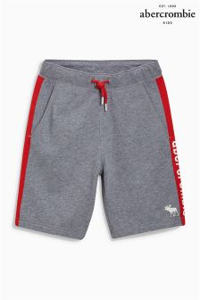 Abercrombie & Fitch Grey/Red Jersey Short