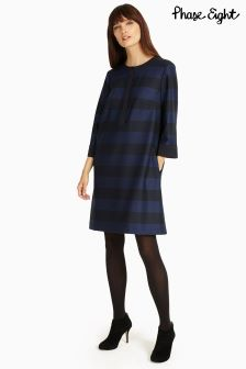 Phase Eight Blue/Black Sammy Stripe Tunic Dress