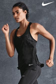 Nike Black Breathe Running Tank