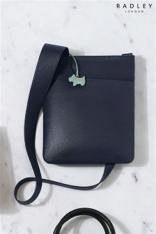 Radley® Navy Leather Medium Cross Body Bag