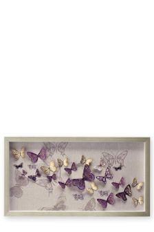3D Butterflies Filled Frame