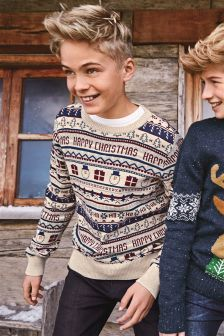 Christmas Print Jumper (3-16yrs)