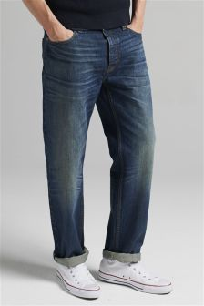 Washed Cone Jeans