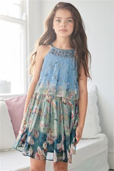 Embellished Printed Dress (3-16yrs)