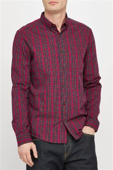 Long Sleeve Small Tartan Shirt