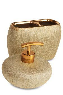 Gold Glimmer Ceramic Accessory Set