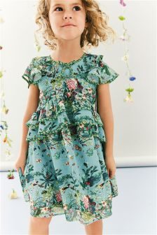 Ruffle Layer Floral Dress (3mths-6yrs)