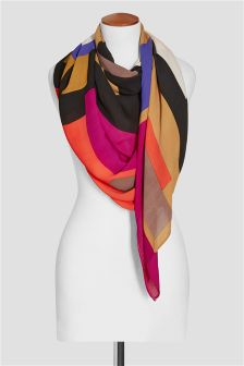 Geo Colourblock Scarf