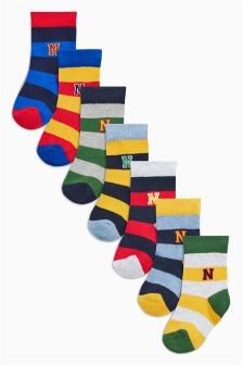 Rugby Stripe Socks Seven Pack (Younger Boys)