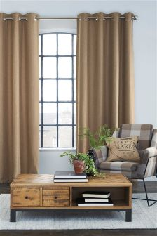 Herringbone Eyelet Curtains