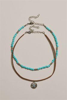 Turquoise Layered Choker