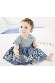 Embroidered Denim Dress (0mths-2yrs)