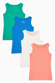 Ribbed Vests Four Pack (3-16yrs)