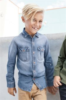 Long Sleeve Denim Shirt (3-16yrs)