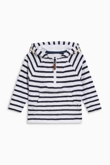 Striped Knit Look Hoody (3mths-6yrs)