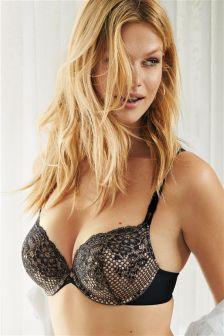 WOW Fishnet Lace Triple Boost Plunge Bra