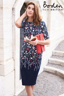 Boden Navy Trailing Floral Placement Imogen Dress